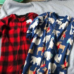Carters toddler boys footie pajamas